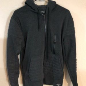 Grey Switch Remarkable Front Zipper Hoodie